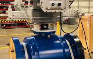 Direct gas scoth yoke actuator with api 6d fully welded ball valves