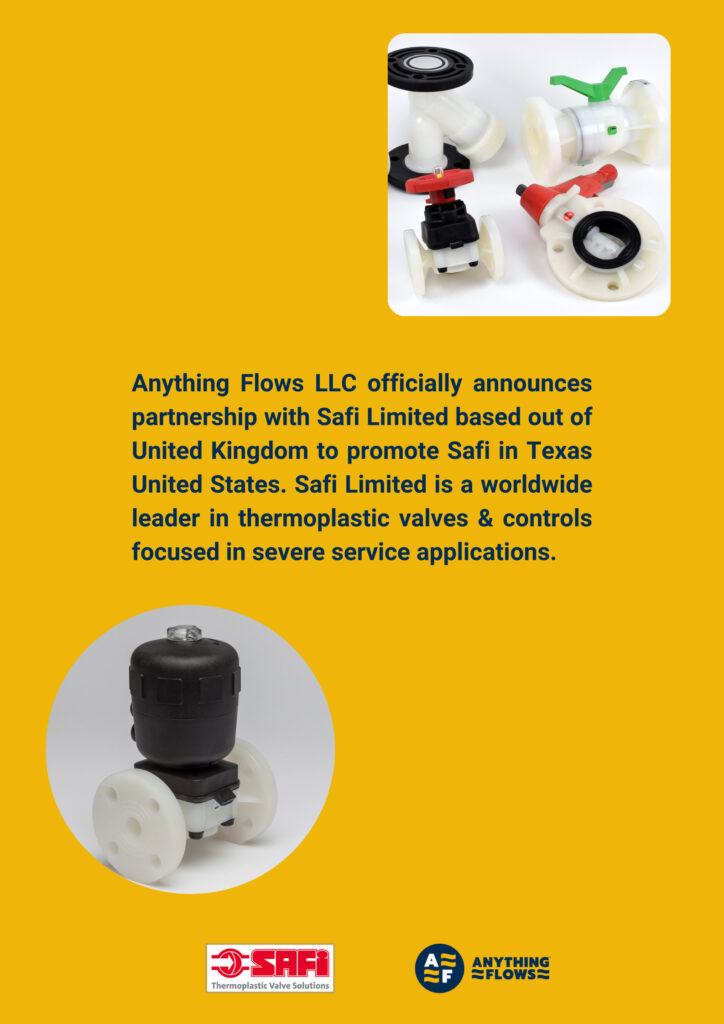 Safi Thermoplastic valves Texas United States